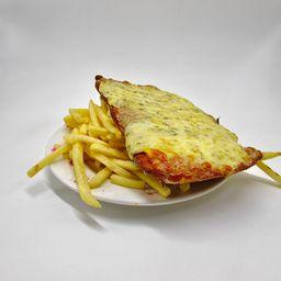 Milanesa Blue Cheese con Fritas