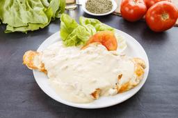 Pollo Grillé con Salsa de Champiñones