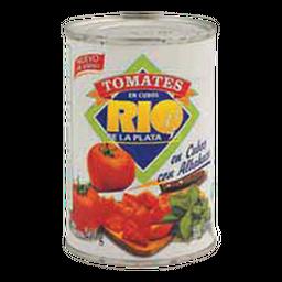 Rio De La Plata Tomates En Cubos Con Albahaca