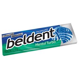 Chicle Beldent Sabor Mentol Turbo Sin Azucar