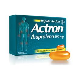 Actron 400 Mg Rapida Accion 10 Capsulas