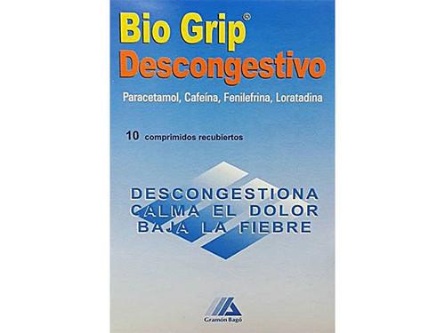 Bio Grip Descongestivo 10 Comprimidos