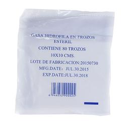 Gasa Esteril 10 Cm X 10 Cm 80 Trozos
