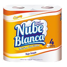 Nube Blanca Papel Higienico 30 Mt X4