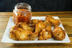 Alitas de Pollo con Salsa