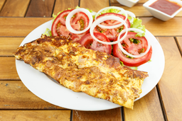 Omelette de Jamón y Queso + Guarnición