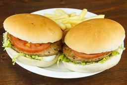 2x1 Hamburguesa Común + Fritas
