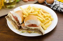 Hamburguesa Completa + Fritas