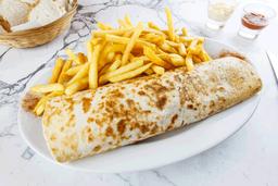 Burrito Vegetariano con Fritas