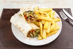 Shish Kebab de Pollo con Guarnición