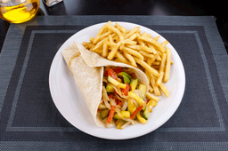Wrap Vegetariano con Fritas
