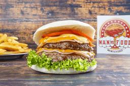 Burger V8 con Guarnición