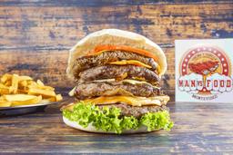 Burger Pro con Guarnición