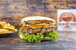 Man vs Food Burger con Guarnición