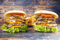Twin Towers Burgers con Guarnición