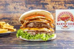 Mega Cheese Bacon Burger con Guarnición