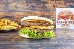 Burger Kansas con Guarnición