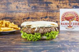 Burger Baconator con Guarnición