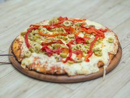 Pizzeta Muzzarella con Jamón y Morrón - 32 Cm