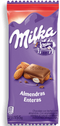 Chocolate Milka Almendras Enteras 155 g