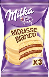 Alfajor Milka Triple Mousse Blanco 55G