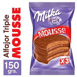 Milka Alfajor Mousse X 3
