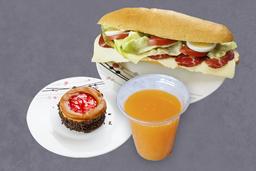 Bocata Gourmet + Bebida + Postre