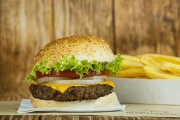 Classic Cheese Burger + Papas Fritas GRATIS