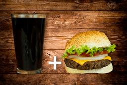 Classic Cheese Burger + Refresco 600 ml