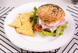 Hamburguesa De Carne + Acompañamiento