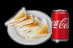 Sándwiche Caliente Común + Coca Cola 250 ml