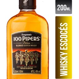 Whisky Escoces 100 Pipers Petaca