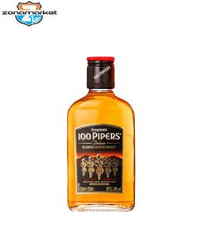 Petaca Whisky 100 Pipers 200ML