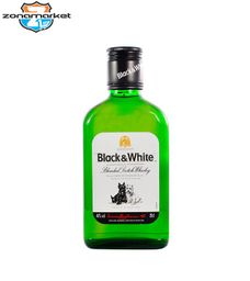 Whisky Black & White Petaca 200ML