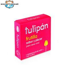 Preservativo Tulipan Frutilla 3 UN