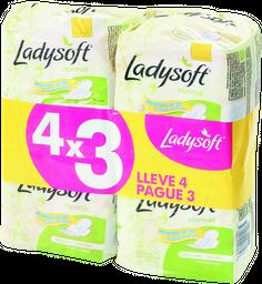 Pack 4x3 Toalla Fem.ladysoft Normal Pq
