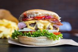 🍔 2x1 Burger Bacon + Papas Fritas