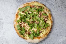 Pizzeta Muzzarella, Rúcula y Panceta