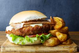 Hamburguesa Chicken Crispy + Fritas
