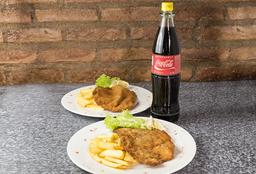 2 Milanesas + Coca Cola - 1 L