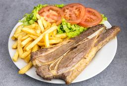 Costilla de Cerdo o Carne + Guarnición