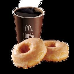 Café Mediano + 2 Donuts