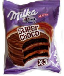 Milka Alfajor Super Choco Triple
