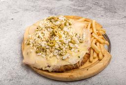 Milanesa a la Pizza Fugazzeta