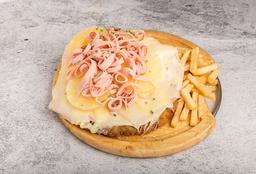 Milanesa a la Pizza Hawaiana
