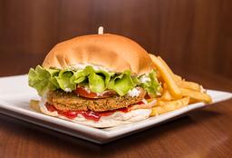 Hamburguesa Vegetariana + Salus Fruté - 500 ml