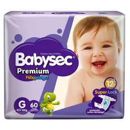 Babysec Pañal Premium Grande X60