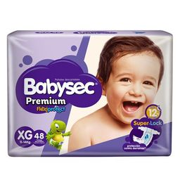 Babysec Pañal Premium Extra Grande X48