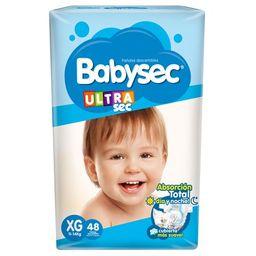 Babysec Pañal Ultra Extra Grande X48