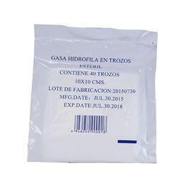 Gasa Esteril 10 Cm X 10 Cm 40 Trozos